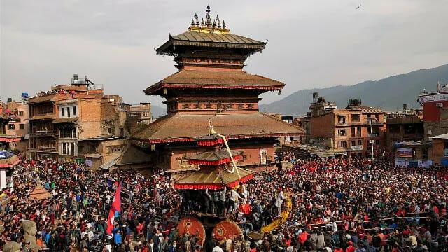 Bisket Jatra at Kathmandu